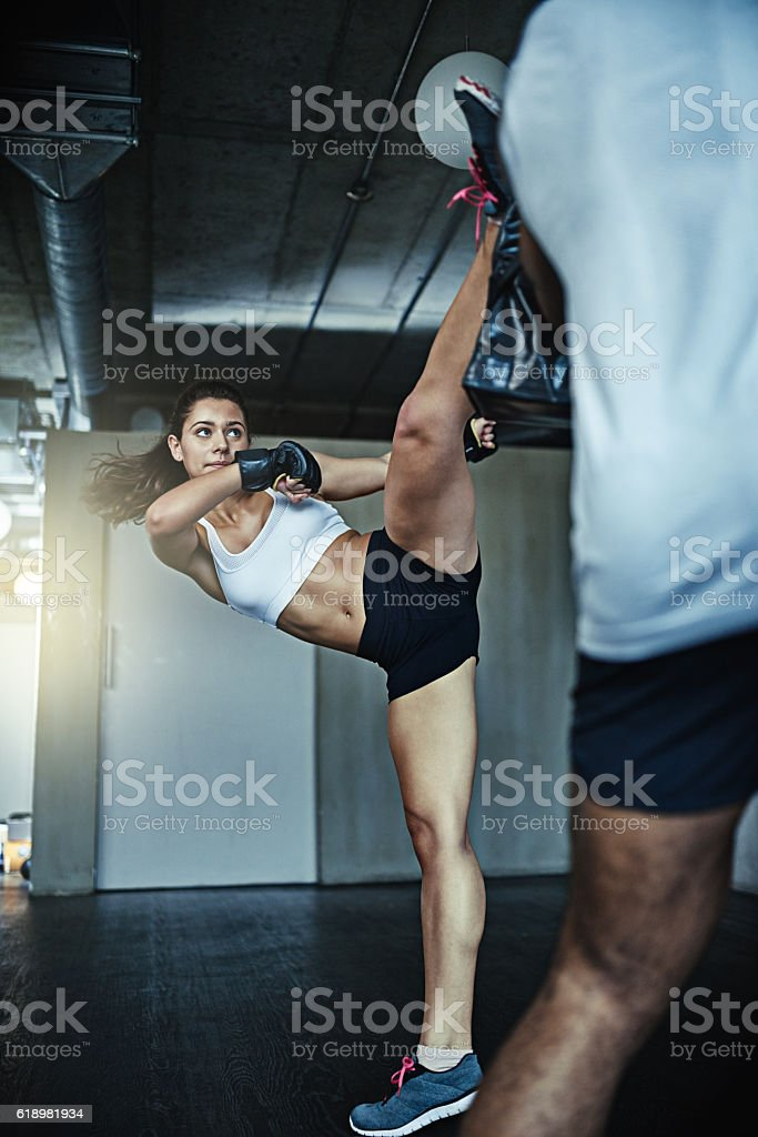 Self defense. Stay safe, stay fit stock photo