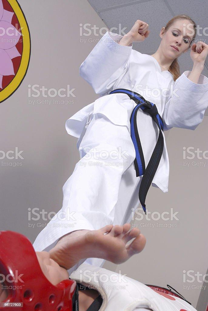 Self defense stomp royalty-free stock photo