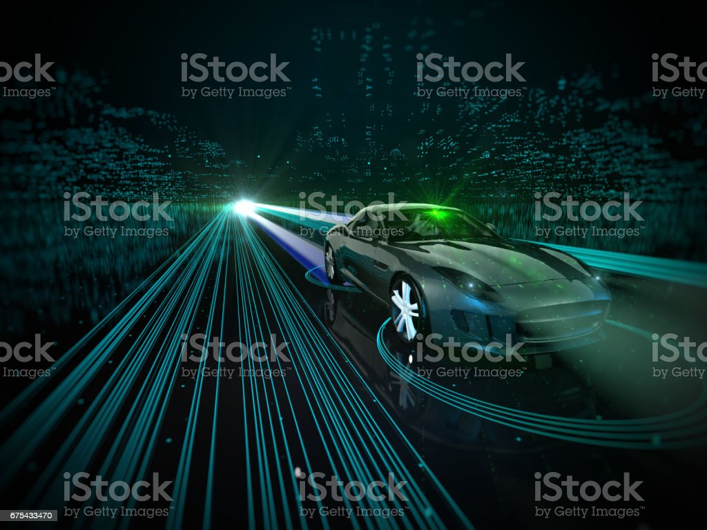 Self drive, autonomous vehicle stock photo