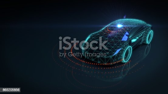istock Self drive autonomous vehicle 865205856
