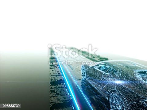 936364312istockphoto Self drive, autonomous vehicle 916333732