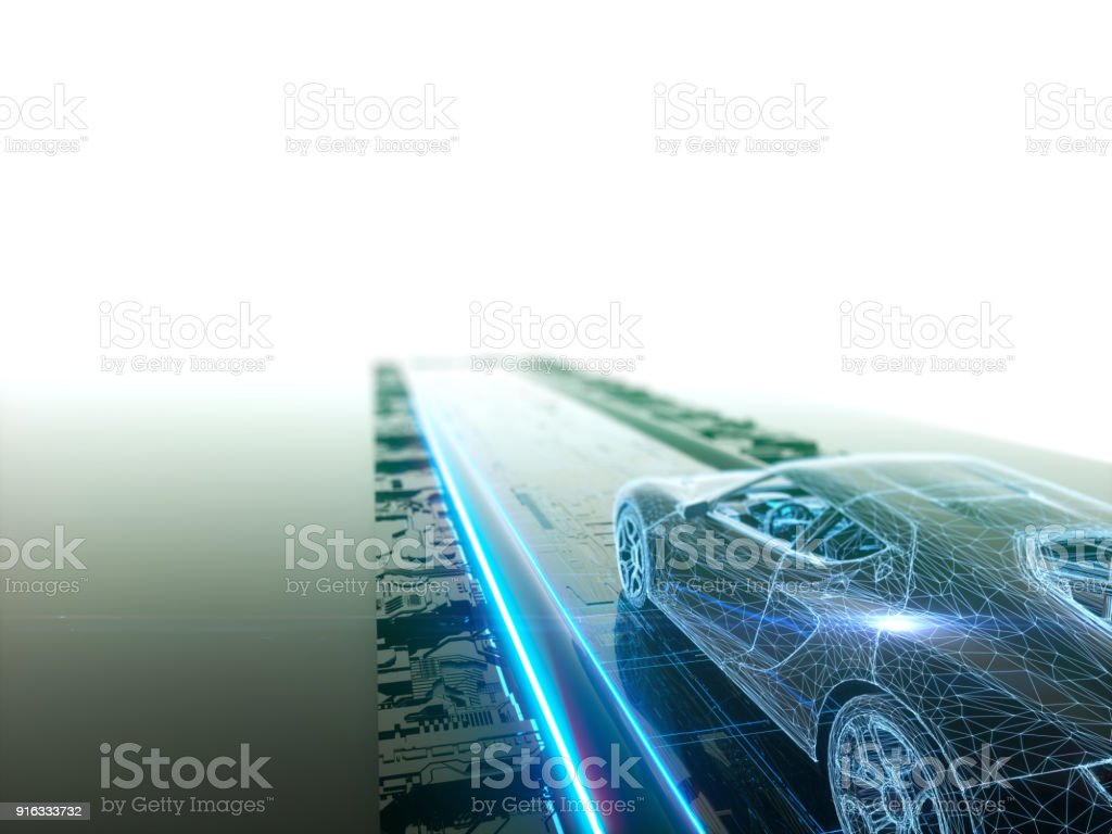 Self drive, autonomous vehicle - foto stock