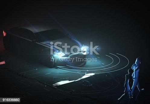 936364312istockphoto Self drive, autonomous vehicle 916336660
