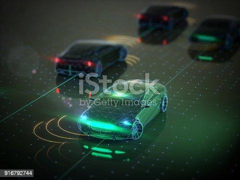 936364312istockphoto Self drive, autonomous vehicle 916792744