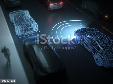 936364312 istock photo Self drive, autonomous vehicle 959407338
