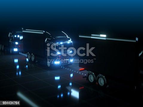 936364312istockphoto Self drive, autonomous vehicle, truck 934434764