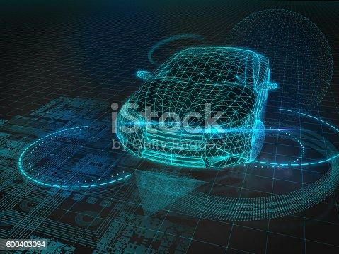 istock Self drive car 600403094