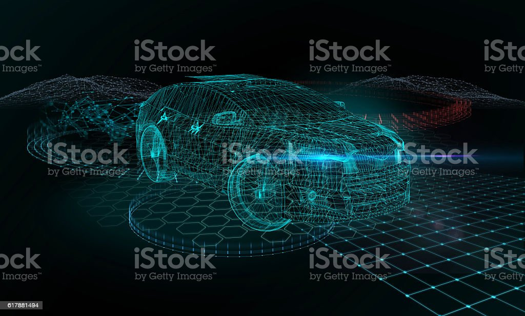 Self drive car - foto stock