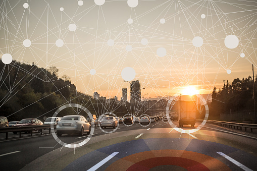 istock Self driving autonomous intelligent cars 692819426