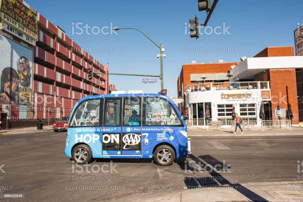 Selbst fahren Bus Downtown Las Vegas – Foto