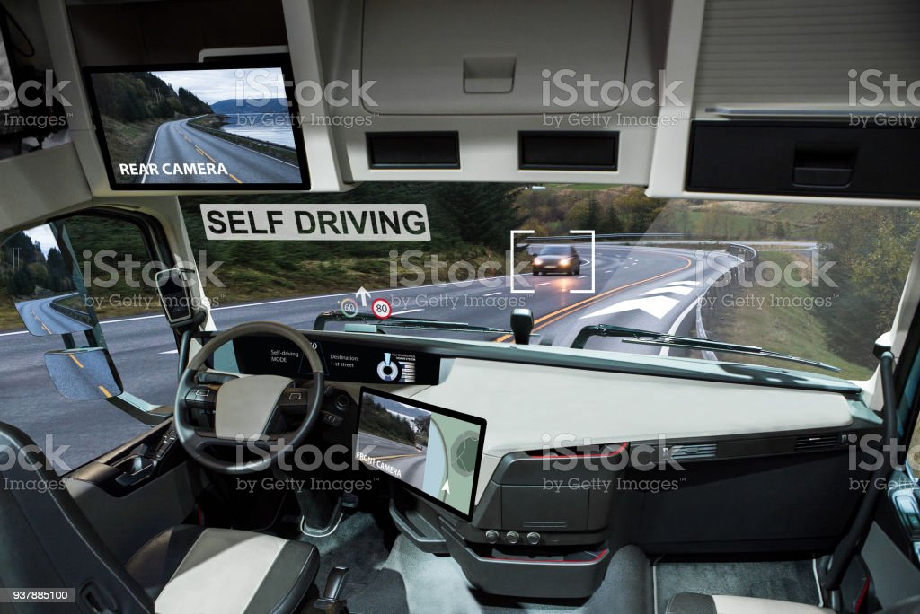 汽車自駕電動車圖像檔