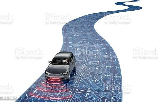 Self driving electronic computer car on road picture id579419740?b=1&k=6&m=579419740&s=612x612&h=n1u5ktksq8vh4oz6k11gzx6dbdbvrb417ptt8p5qbic=