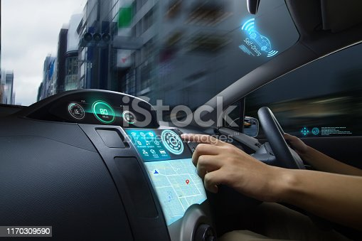 istock Self Driving of Autonomous car 1170309590