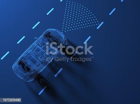 istock Self driving smart vehicle 1072325430