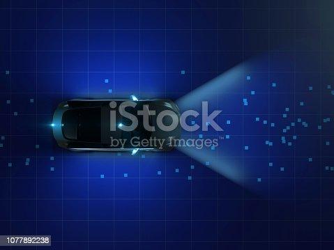 istock Self driving smart vehicle 1077892238