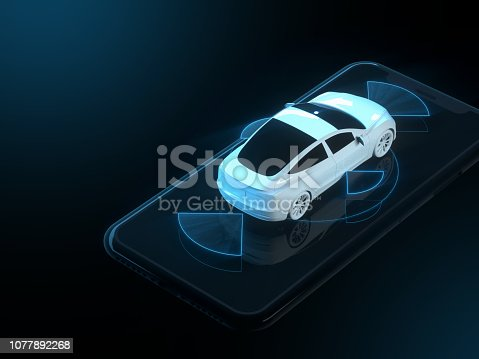 istock Self driving smart vehicle 1077892268