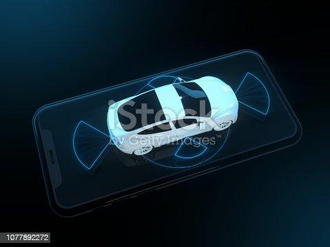 istock Self driving smart vehicle 1077892272