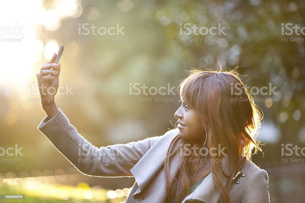 Self photographing royalty-free stock photo