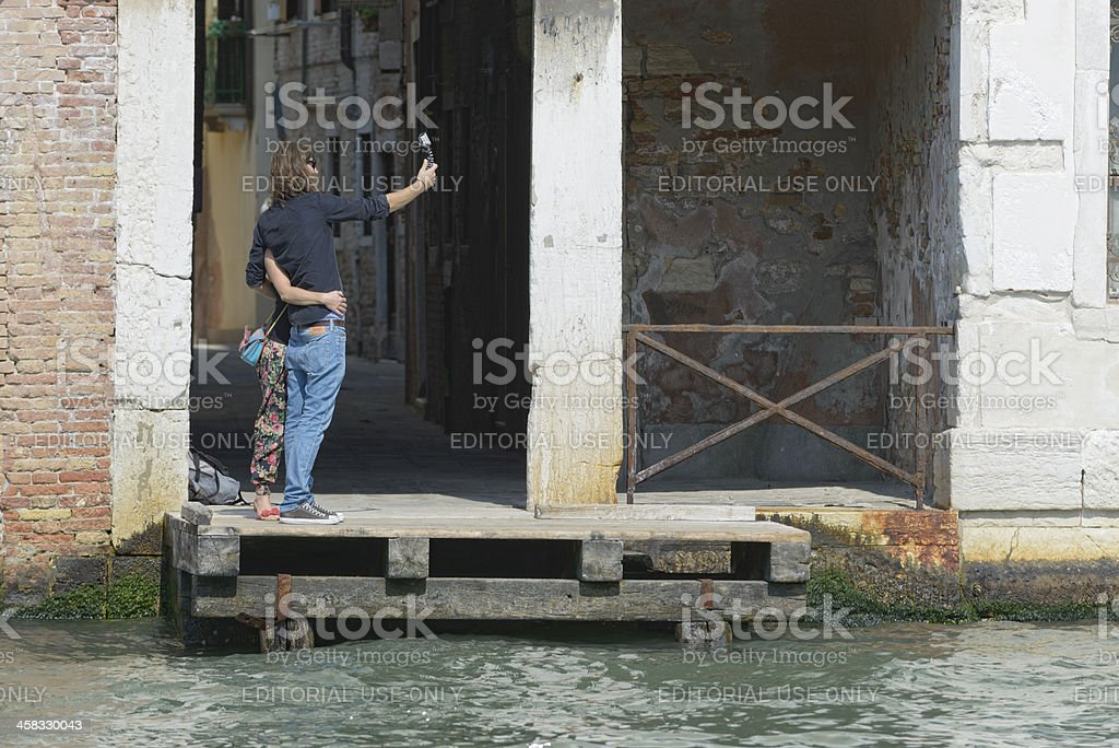 Self portrait in Venice royalty-free stock photo