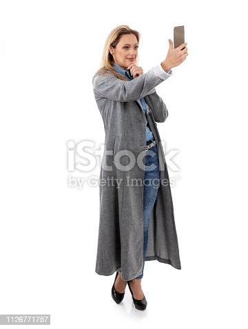 istock Self portrait of a fashion model 1126771757