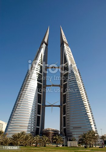 This creative and sustainable high-rise is an example of the building boom in the Kingdom of Bahrain.