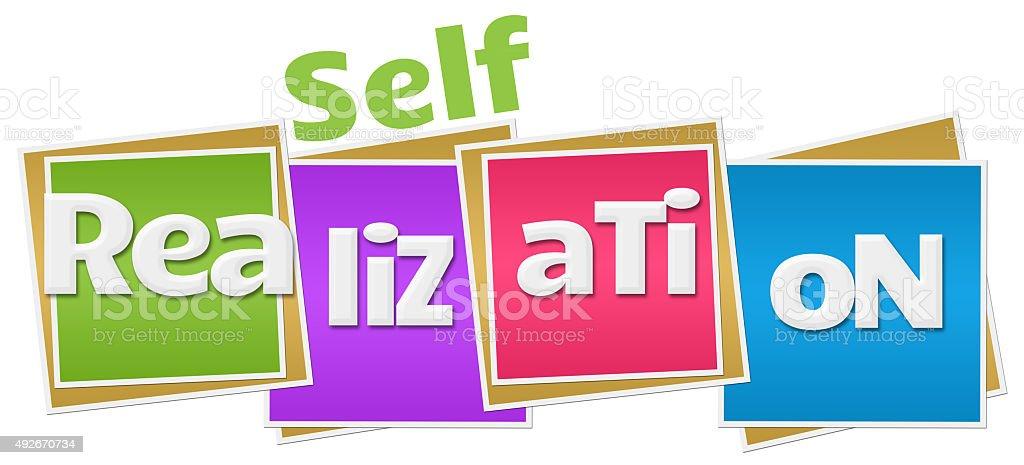 Self Realization Colorful Blocks stock photo