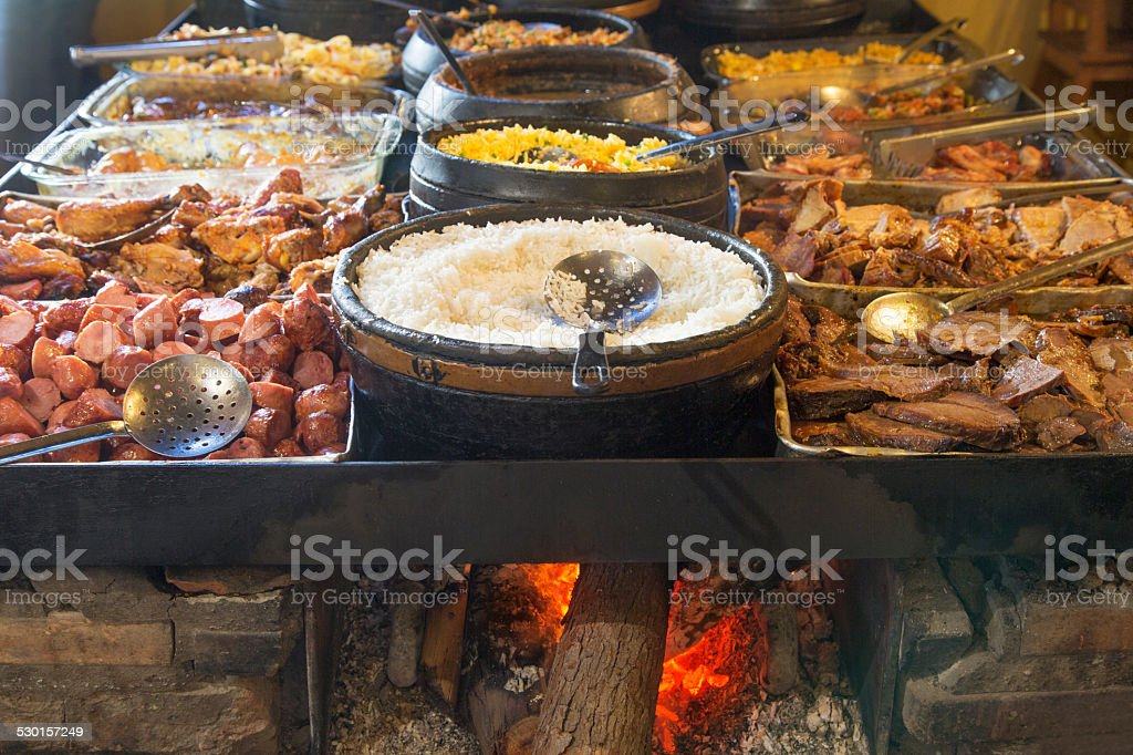 Self service restaurant in Minas Gerais stock photo