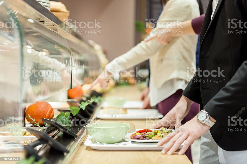 Self service restaurant stock photo