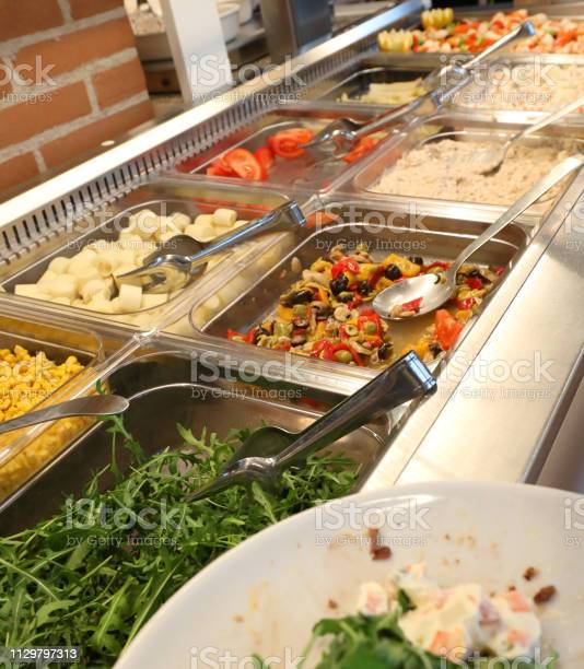 Self service restaurant with many raw and cooked foods picture id1129797313?b=1&k=6&m=1129797313&s=612x612&h=ur pbphgv13pmkzn62 kvfuwxuxoffxxs8gyzj11f m=