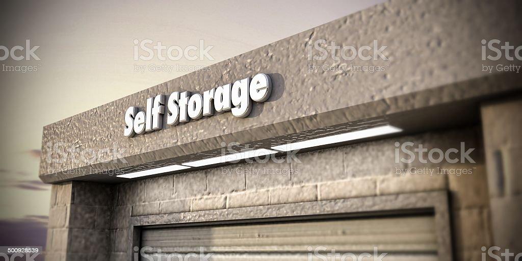 self storage stock photo