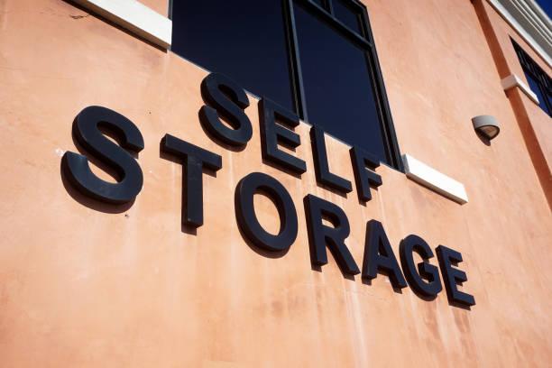 self storage sign stock photo
