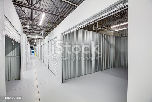 Modern self storage lockers interior
