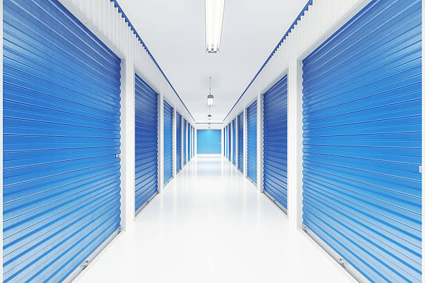 Self Storage Units Interior stock photo
