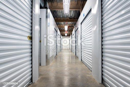 Indoor self storage units.