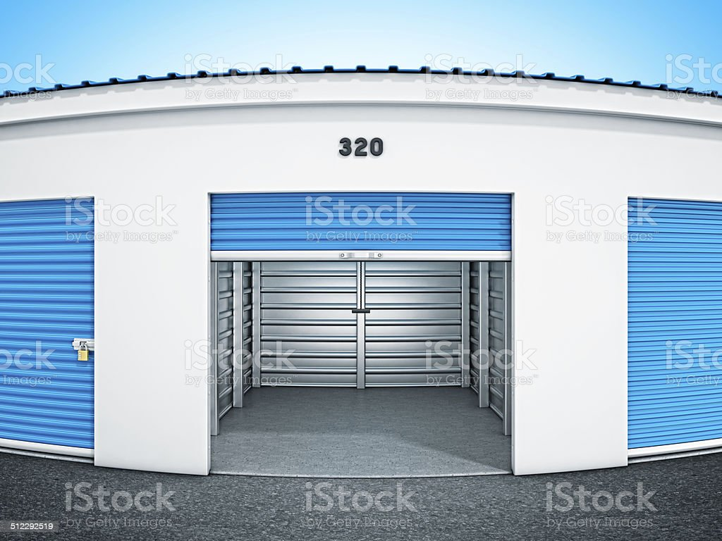 self storage units stock photo