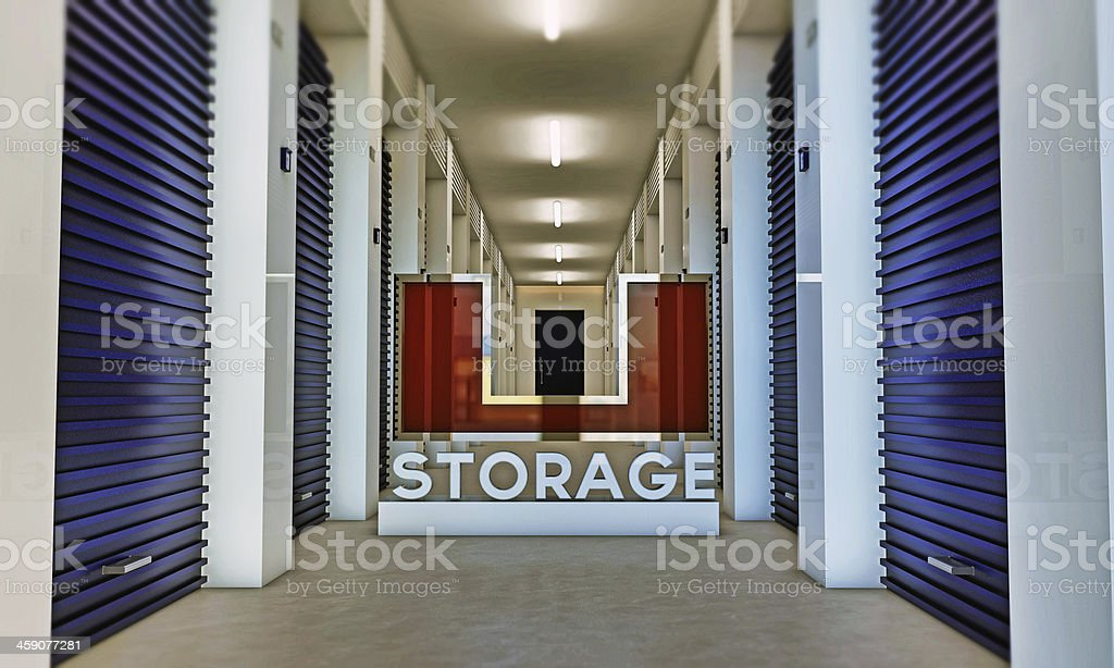 Self storage units with u storage stock photo