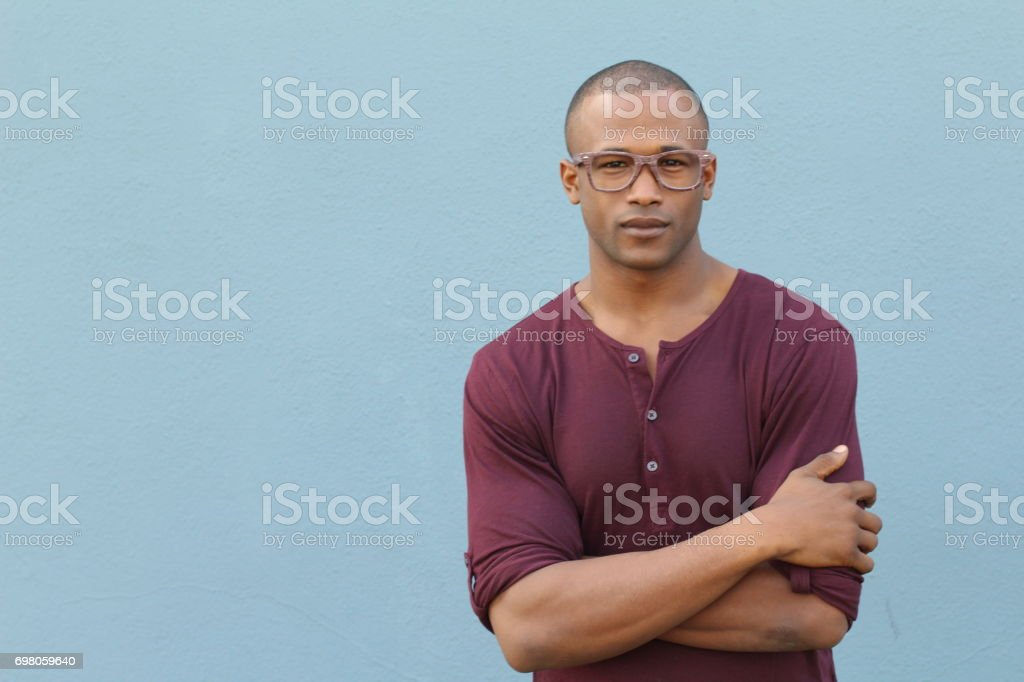 Self-confident male with a nice look stock photo