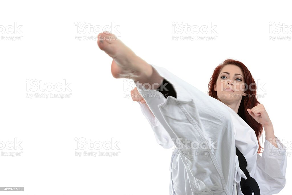 Self-Defense Attitude stock photo