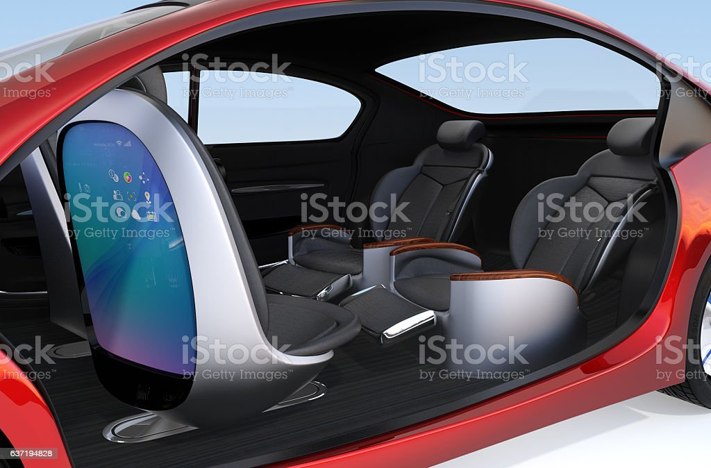 Self-driving car concept image stock photo