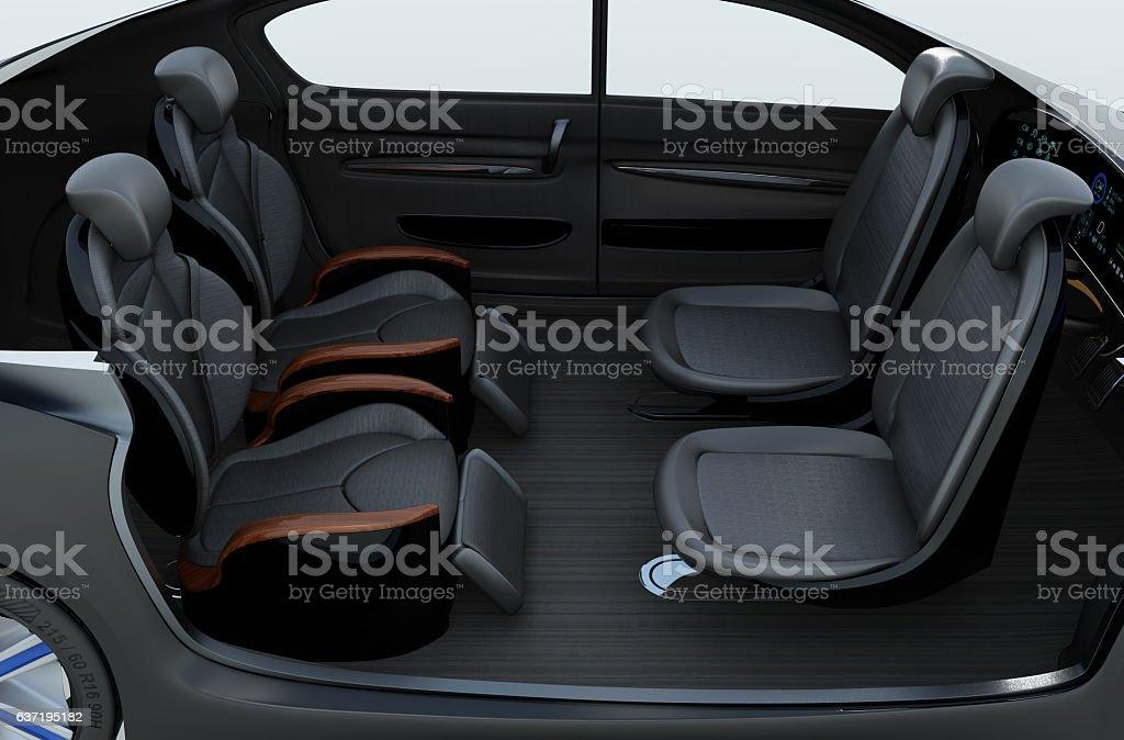 Self-driving-cutaway-Bild – Foto