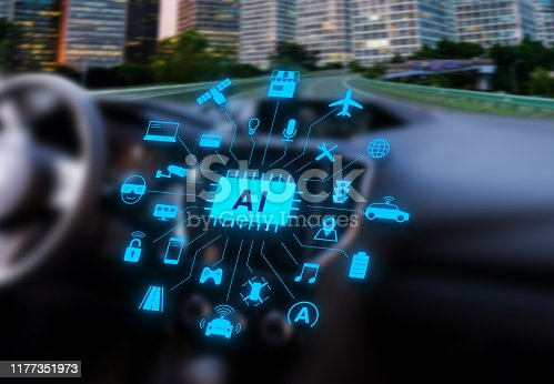 istock self-driving car with artificial intelligence 1177351973