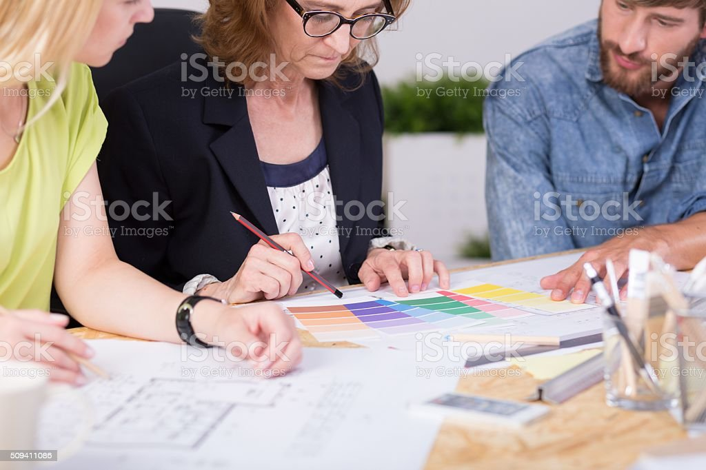 Self-employed skilled workers stock photo