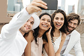 Laughing for selfie