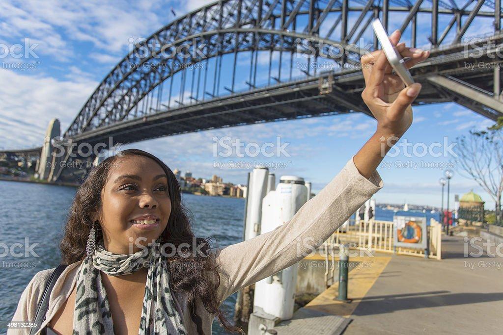 Selfie Aboriginal Woman royalty-free stock photo