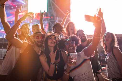 Selfie at summer festival