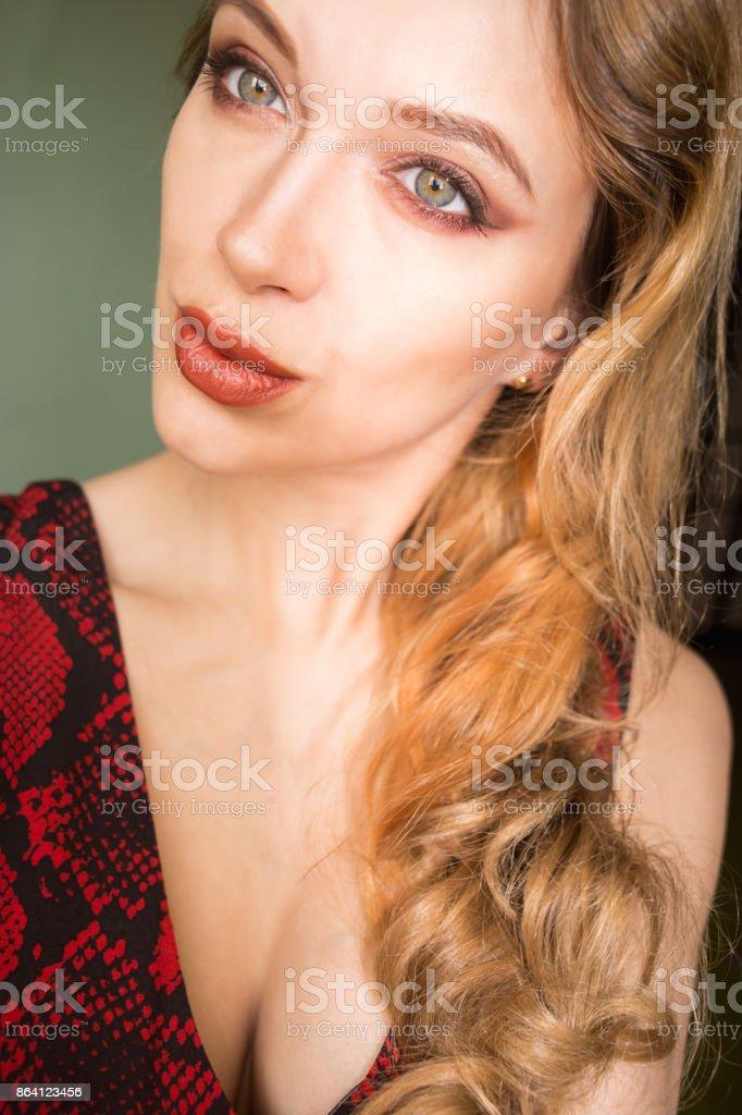 Selfie beautiful young slim girl royalty-free stock photo