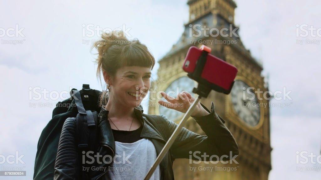 Big Ben Selfie - foto de acervo