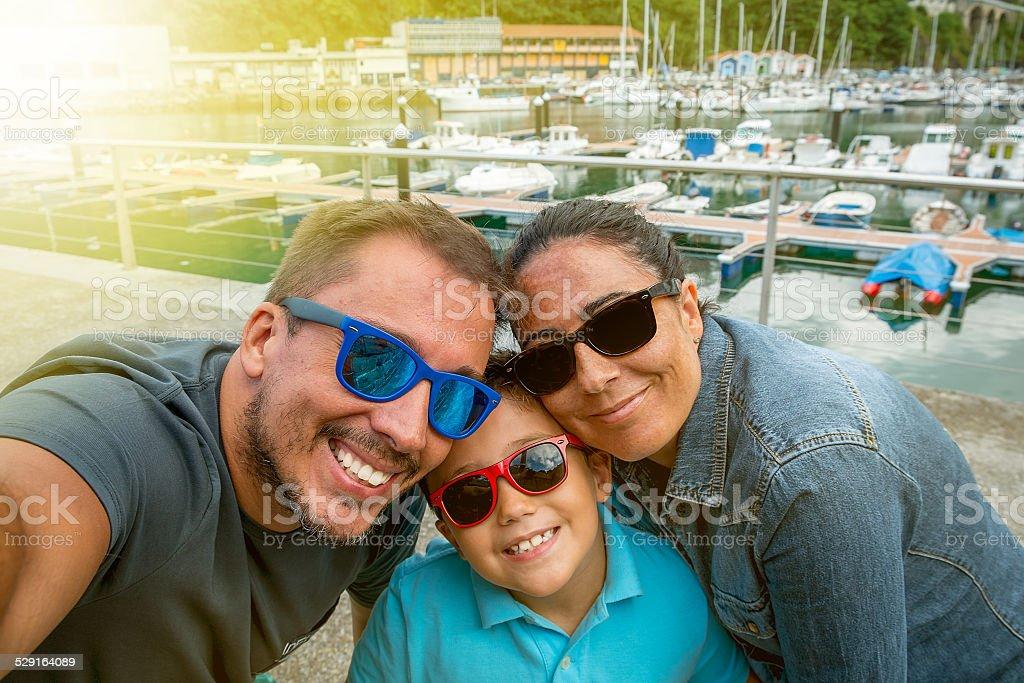 Selfie family royalty-free stock photo