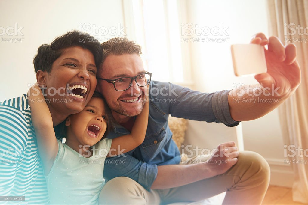 Selfie fun stock photo