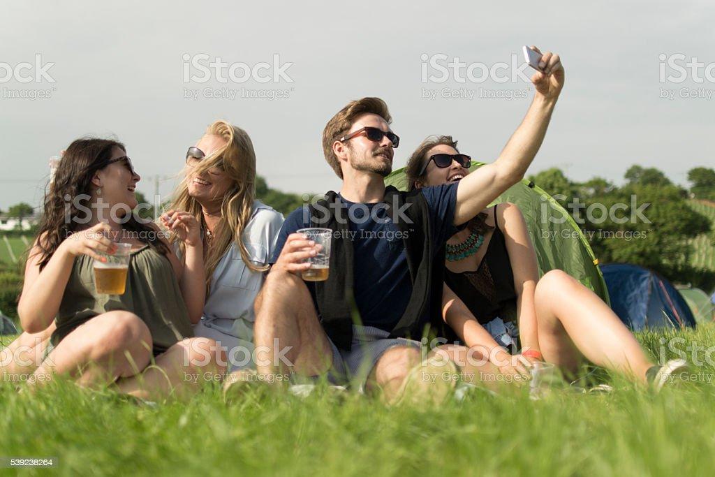 Selfie fun royalty-free stock photo